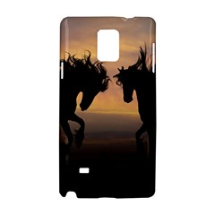 Horses Sunset Photoshop Graphics Samsung Galaxy Note 4 Hardshell Case by Onesevenart