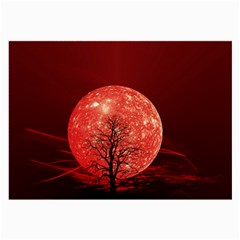 The Background Red Moon Wallpaper Large Glasses Cloth (2 Side)