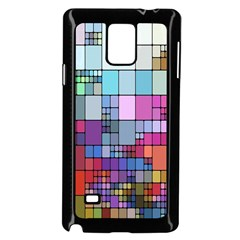 Color Abstract Visualization Samsung Galaxy Note 4 Case (black) by Onesevenart