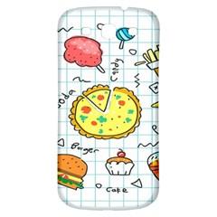 Colorful Doodle Soda Cartoon Set Samsung Galaxy S3 S Iii Classic Hardshell Back Case by Onesevenart