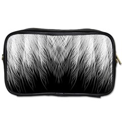 Feather Graphic Design Background Toiletries Bags by Onesevenart
