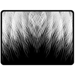 Feather Graphic Design Background Double Sided Fleece Blanket (large)  by Onesevenart