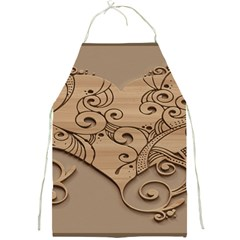 Wood Sculpt Carved Background Full Print Aprons by Onesevenart