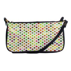 Background Multicolored Star Shoulder Clutch Bags by Onesevenart