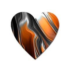 Fractal Structure Mathematics Heart Magnet by Onesevenart