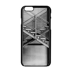 Architecture Stairs Steel Abstract Apple Iphone 6/6s Black Enamel Case by Onesevenart