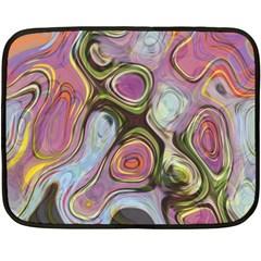 Retro Background Colorful Hippie Fleece Blanket (mini) by Onesevenart