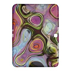 Retro Background Colorful Hippie Samsung Galaxy Tab 4 (10 1 ) Hardshell Case  by Onesevenart