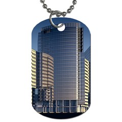 Skyscraper Skyscrapers Building Dog Tag (two Sides) by Onesevenart