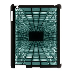 Abstract Perspective Background Apple Ipad 3/4 Case (black) by Onesevenart
