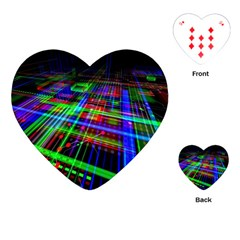 Electronics Board Computer Trace Playing Cards (heart)  by Onesevenart