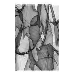 Abstract Black And White Background Shower Curtain 48  X 72  (small)  by Onesevenart