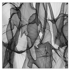 Abstract Black And White Background Large Satin Scarf (square) by Onesevenart