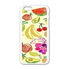 Seamless Pattern Desktop Decoration Apple Iphone 6/6s White Enamel Case by Onesevenart