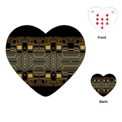 Board Digitization Circuits Playing Cards (heart)  by Onesevenart