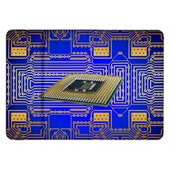 Processor Cpu Board Circuits Samsung Galaxy Tab 8 9  P7300 Flip Case by Onesevenart