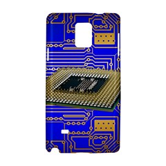 Processor Cpu Board Circuits Samsung Galaxy Note 4 Hardshell Case by Onesevenart