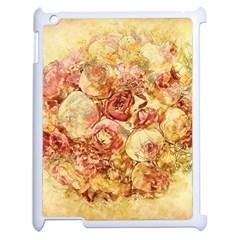 Vintage Digital Graphics Flower Apple Ipad 2 Case (white) by Onesevenart