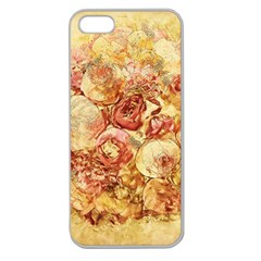 Vintage Digital Graphics Flower Apple Seamless Iphone 5 Case (clear)