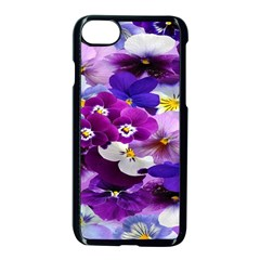 Graphic Background Pansy Easter Apple Iphone 7 Seamless Case (black) by Onesevenart