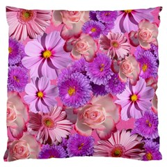 Flowers Blossom Bloom Nature Color Large Cushion Case (one Side) by Onesevenart