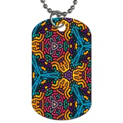 Grubby Colors Kaleidoscope Pattern Dog Tag (one Side) by Onesevenart