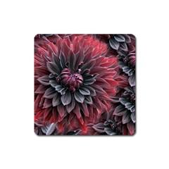 Flower Fractals Pattern Design Creative Square Magnet