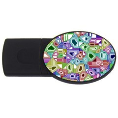 Board Interfaces Digital Global Usb Flash Drive Oval (4 Gb) by Onesevenart