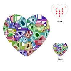 Board Interfaces Digital Global Playing Cards (heart)  by Onesevenart