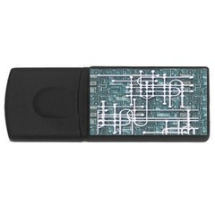 Board Circuit Control Center Rectangular Usb Flash Drive by Onesevenart