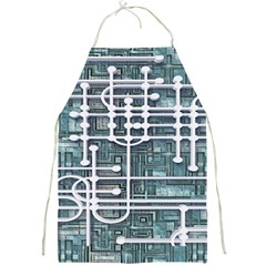Board Circuit Control Center Full Print Aprons by Onesevenart