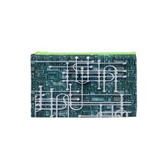 Board Circuit Control Center Cosmetic Bag (xs) by Onesevenart