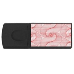 Red Pattern Abstract Background Rectangular Usb Flash Drive by Onesevenart