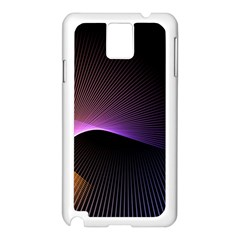 Star Graphic Rays Movement Pattern Samsung Galaxy Note 3 N9005 Case (white) by Onesevenart