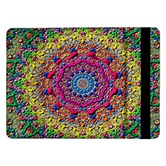 Background Fractals Surreal Design Samsung Galaxy Tab Pro 12 2  Flip Case by Onesevenart