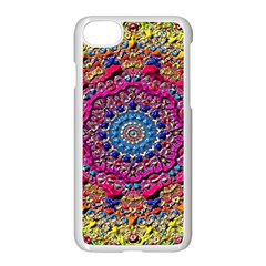 Background Fractals Surreal Design Apple Iphone 7 Seamless Case (white) by Onesevenart
