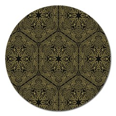 Texture Background Mandala Magnet 5  (round) by Onesevenart