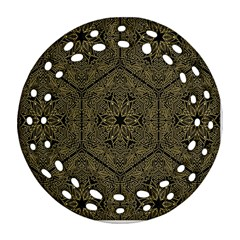 Texture Background Mandala Ornament (round Filigree) by Onesevenart