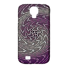 Graphic Abstract Lines Wave Art Samsung Galaxy S4 Classic Hardshell Case (pc+silicone) by Onesevenart