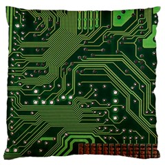 Board Computer Chip Data Processing Large Flano Cushion Case (two Sides) by Onesevenart