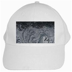 Abstract Art Decoration Design White Cap by Onesevenart