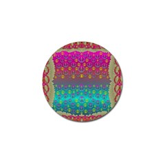 Years Of Peace Living In A Paradise Of Calm And Colors Golf Ball Marker by pepitasart