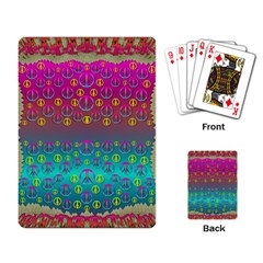 Years Of Peace Living In A Paradise Of Calm And Colors Playing Card by pepitasart