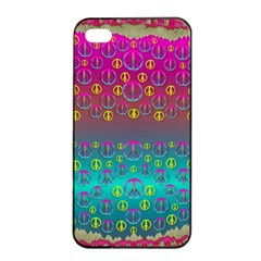 Years Of Peace Living In A Paradise Of Calm And Colors Apple Iphone 4/4s Seamless Case (black) by pepitasart