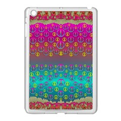 Years Of Peace Living In A Paradise Of Calm And Colors Apple Ipad Mini Case (white) by pepitasart