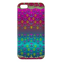Years Of Peace Living In A Paradise Of Calm And Colors Iphone 5s/ Se Premium Hardshell Case by pepitasart