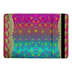 Years Of Peace Living In A Paradise Of Calm And Colors Samsung Galaxy Tab Pro 10 1  Flip Case by pepitasart