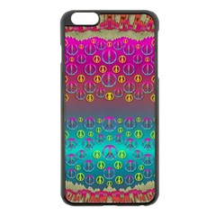 Years Of Peace Living In A Paradise Of Calm And Colors Apple Iphone 6 Plus/6s Plus Black Enamel Case by pepitasart