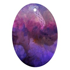 Ultra Violet Dream Girl Oval Ornament (two Sides) by 8fugoso