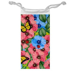 Floral Scene Jewelry Bag by linceazul